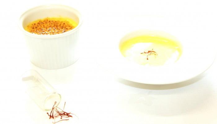 Crème brulée au safran